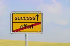 Sign effort success Stock Photo