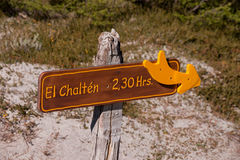 Sign El Chalten royalty free stock image