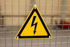 Sign electric danger Stock Image