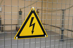 Sign electric danger Stock Photo