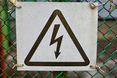 Sign electric danger Stock Photography