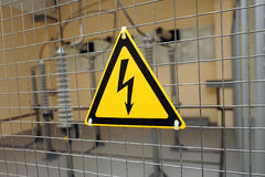 Sign electric danger Royalty Free Stock Photos