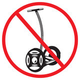 Sign Electric scooters prohibited Stock Photography