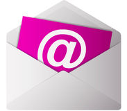 At sign on email letter Royalty Free Stock Photography