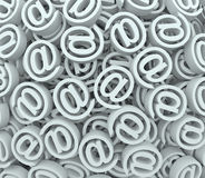 @ Sign At Email Symbol Background Send Receive Messages Royalty Free Stock Photo