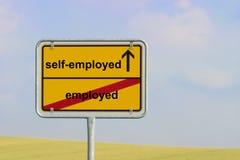 Sign employed self-employed Stock Photography