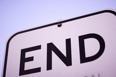 Sign Of The End. Dead End Sign Minus The Dead?..As It Died Royalty Free Stock Photography