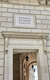 Sign Engraved on the Wall of the Internal Revenue Service Royalty Free Stock Image