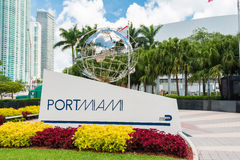 Sign at the entrance of the Port of Miami Royalty Free Stock Image