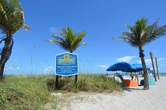 Sign At Entrance to Cocoa Beach Royalty Free Stock Images