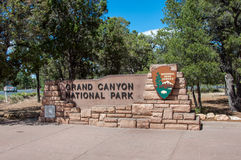 Sign at the entrance to Grand Canyon National Park, Arizona, USA Royalty Free Stock Photography
