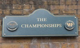 Sign at the entrance to Wimbledon Stock Photography