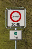 Sign environment zone Royalty Free Stock Image