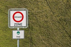 Sign environment zone Royalty Free Stock Photos