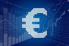 Euro and Stock Charts Royalty Free Stock Photos