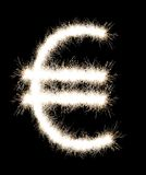 The sign on euro from a Bengal fire. Stock Photo