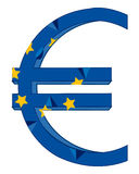 Sign euro and flag. Sign and symbol euro on white background is insulated Stock Photos