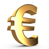 Sign of euro. On white isolated background Royalty Free Stock Photography