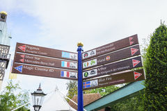 Sign of Europa Park in Rust, Germany. Royalty Free Stock Photo