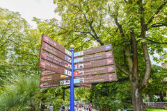 Sign of Europa Park in Rust, Germany. Stock Photography