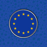 Sign of Europe on a blue background. Euro union flag in web button isolated on world Cup of Hockey 2016 background. International hockey championship. National stock illustration