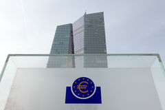 Sign for European Central Bank Royalty Free Stock Photos