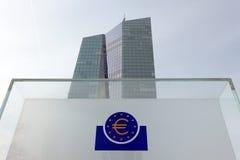 Sign for European Central Bank Royalty Free Stock Photos