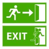 Sign evacuation exit. Flat design,  illustration Stock Photo