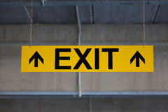 Sign EXIT Royalty Free Stock Photos