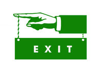 Sign for exit Stock Image