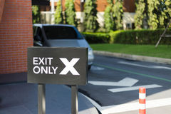 Sign of exit only Stock Image