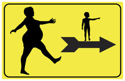 Sign for Expectant Mothers. Leading the way to maternity ward of prenatal classes Stock Image