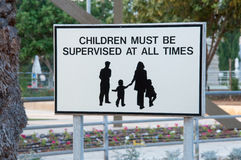 Sign  for families. Sign for families with kids at hotel area Stock Image