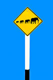 The Sign of family elephant Royalty Free Stock Images