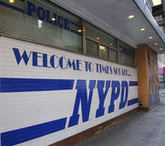 Sign at the famous NYPD Times Square Precinct in Midtown Manhattan Stock Photography