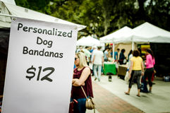 Sign at farmers market in Orlando stock image