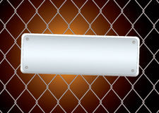 Sign fence night Royalty Free Stock Photo