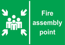 Sign Fire assembly point in vector Stock Photography