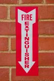 Sign for Fire Extinguisher stock images