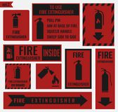 Sign of the fire extinguisher Royalty Free Stock Photos
