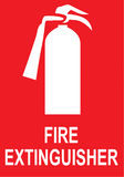 Sign Fire Extinguisher in Vector Stock Image