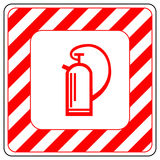 Sign of the fire extinguisher in vector, isolated over white Royalty Free Stock Photography