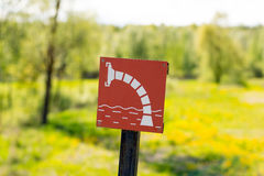 Sign for a fire - extinguishing water. Stock Images