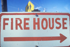 Sign: Firehouse Stock Image