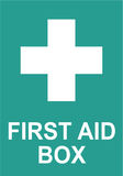 Sign First Aid Box in Vector Royalty Free Stock Photo