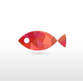 Sign of Fish with Modern Texture Royalty Free Stock Image