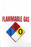 Sign for Flammable Gas stock image