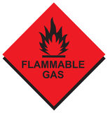 Sign Flammable Gas in Vector Royalty Free Stock Photo