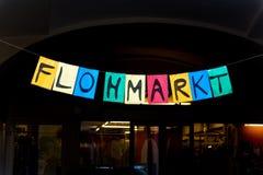 Sign flea market Royalty Free Stock Photo