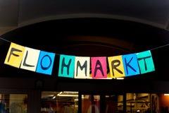 Sign flea market Royalty Free Stock Image